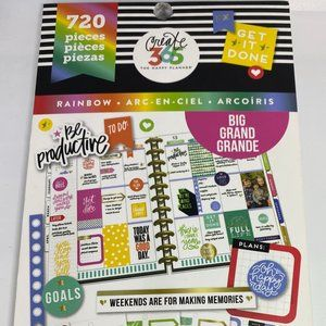 NWT The Happy Planner Rainbow 720 Pieces